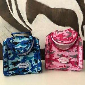2 NWOT TUPPERWARE CAMOUFLAGE MINI LUNCH BAGS